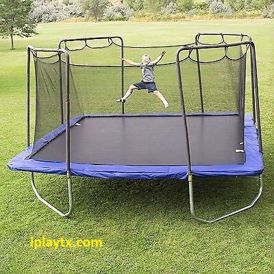Square Trampolines With Enclosure