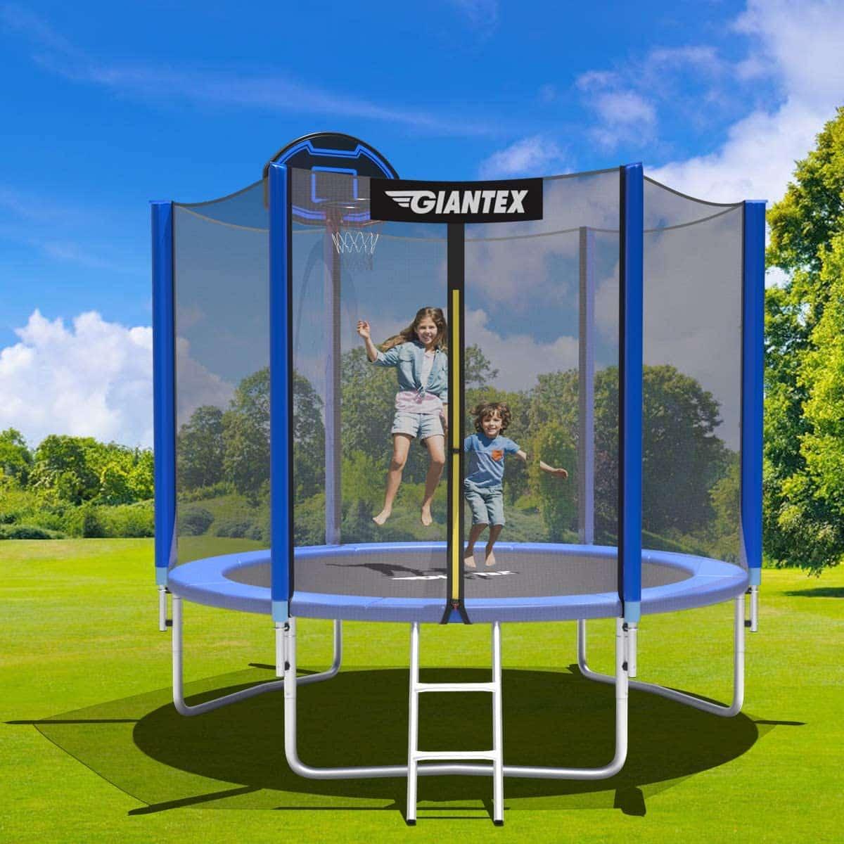 best outdoor outside trampoline with net for backyard garden