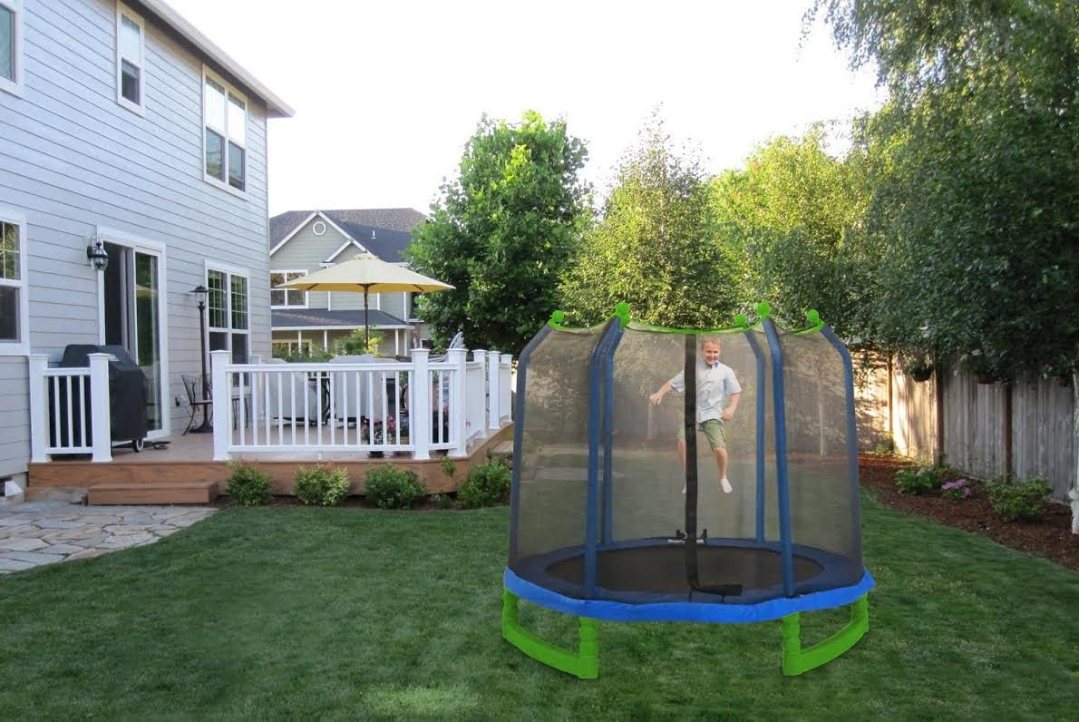 best 7ft trampoline with enclosure for sale