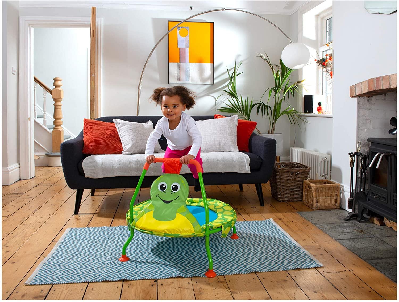 best indoor outdoor toddler baby trampoline with bar net