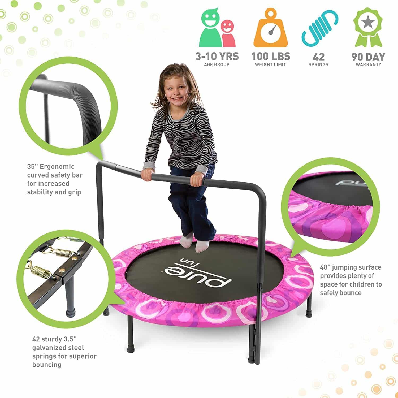 pure fun mini big trampolines parts for sale reviews