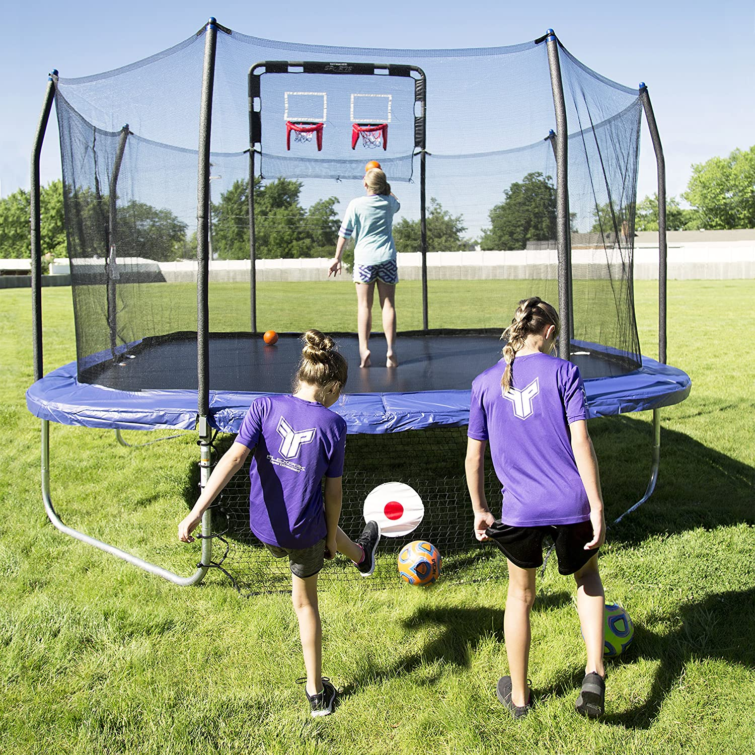 best 5 square trampolines with enclosure for sale small big
