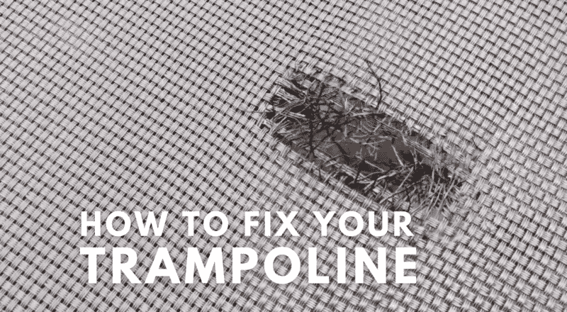 This is an image of how to fix a trampoline