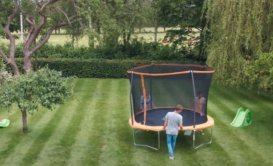 how to move a trampoline